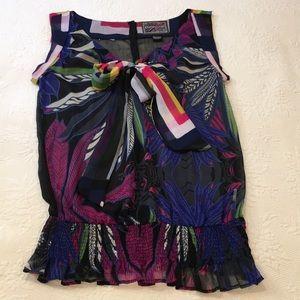 Desigual sleeveless blouse size large